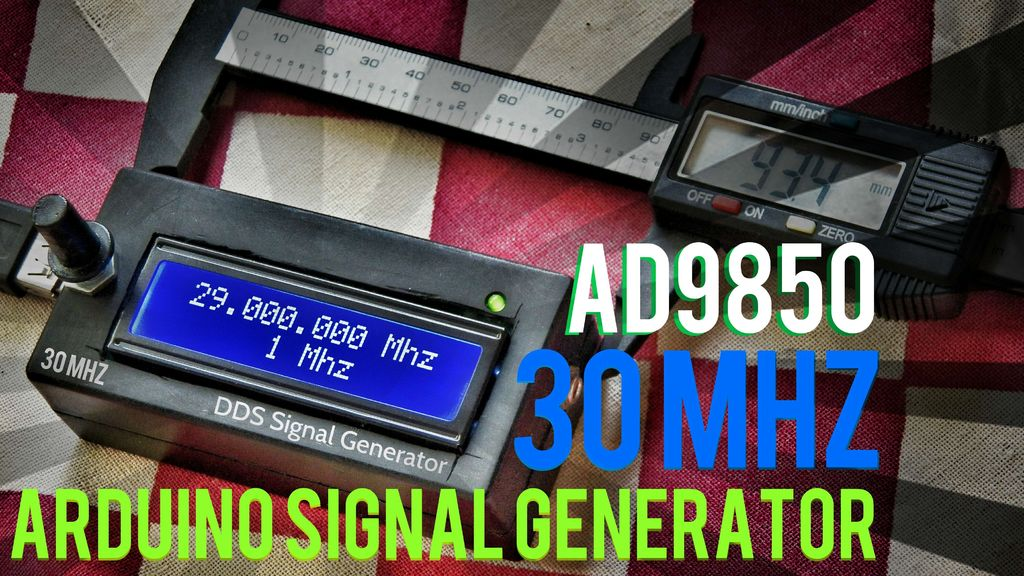 12$ 30MHz signal generator using Arduino