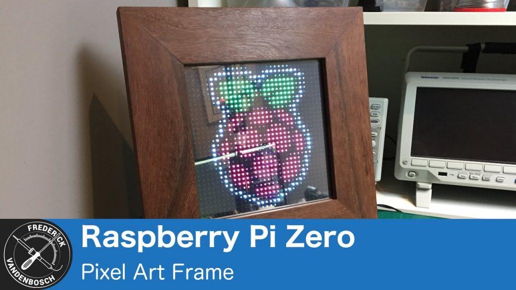DIY Pixel Art Frame Using Raspberry Pi Zero