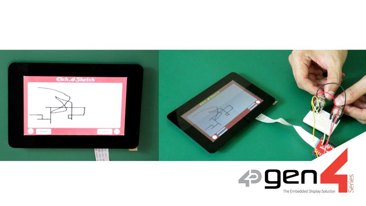 Etch a Sketch featuring gen4-uLCD-50DT