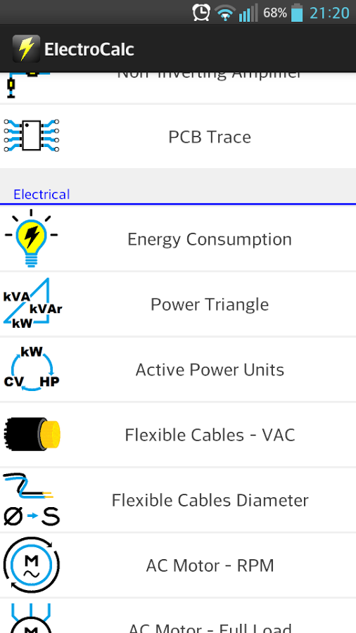 ElectroCalc – Electrical and Electronics Calculator