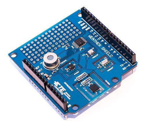 MEAS: five weather sensors on one Arduino shield