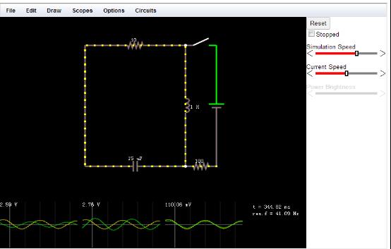 Falstad Circuit Online circuit simulator