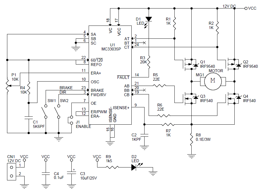 dc-motor-sd-direction-controller-schematic - Electronics-Lab on control plan, control relay, control transformer, control manual, control circuit, control wiring, control board, control switch,