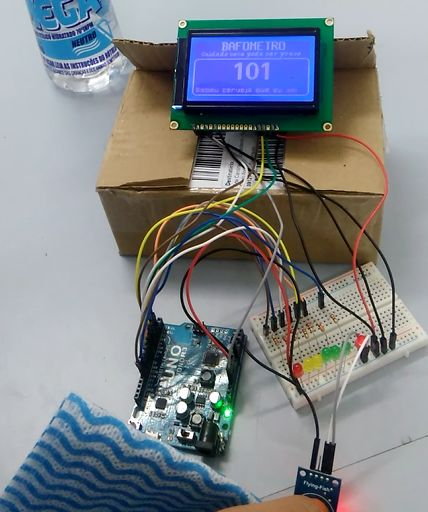 DIY Breathalyzer Using Arduino UNO