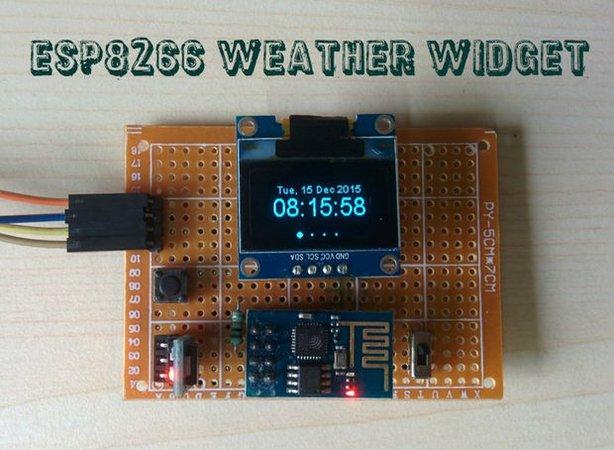 Weather Widget using ESP8266