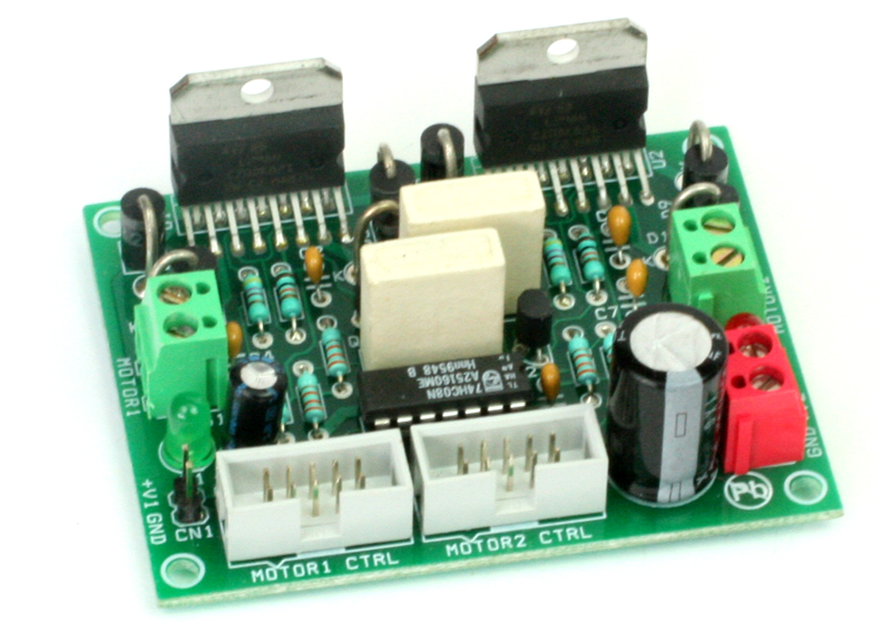 2X L298 Dual DC Motor Driver Board for Robots