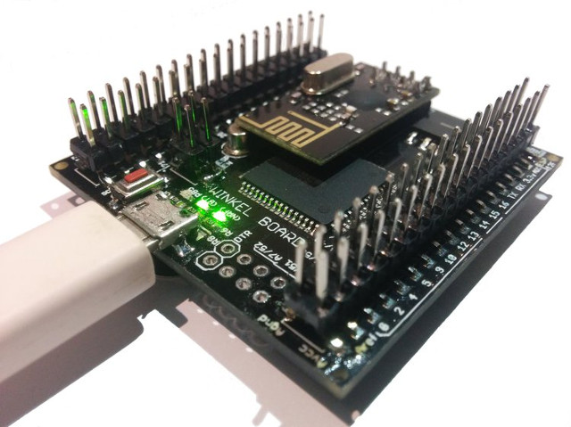 The Winkel Board, All-in-one Arduino Compatible Board