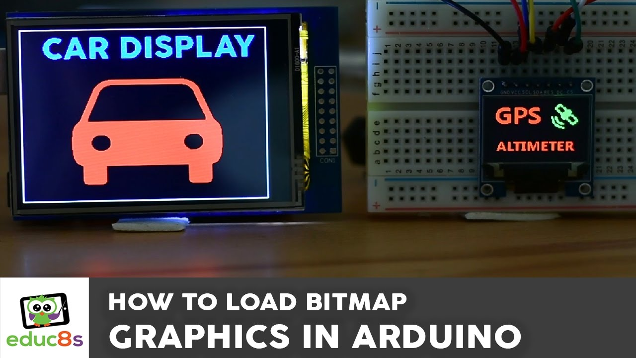 Bitmap graphics on an Arduino Touch Screen and other top Arduino Displays