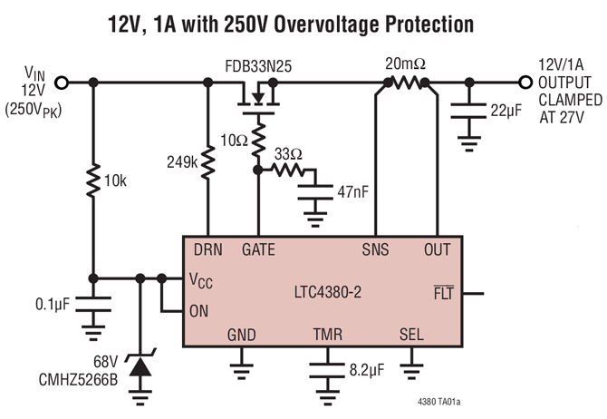 LTC4380 Overvoltage Protection