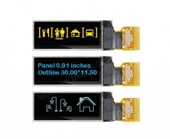 0.91 inch OLED display targets wearables