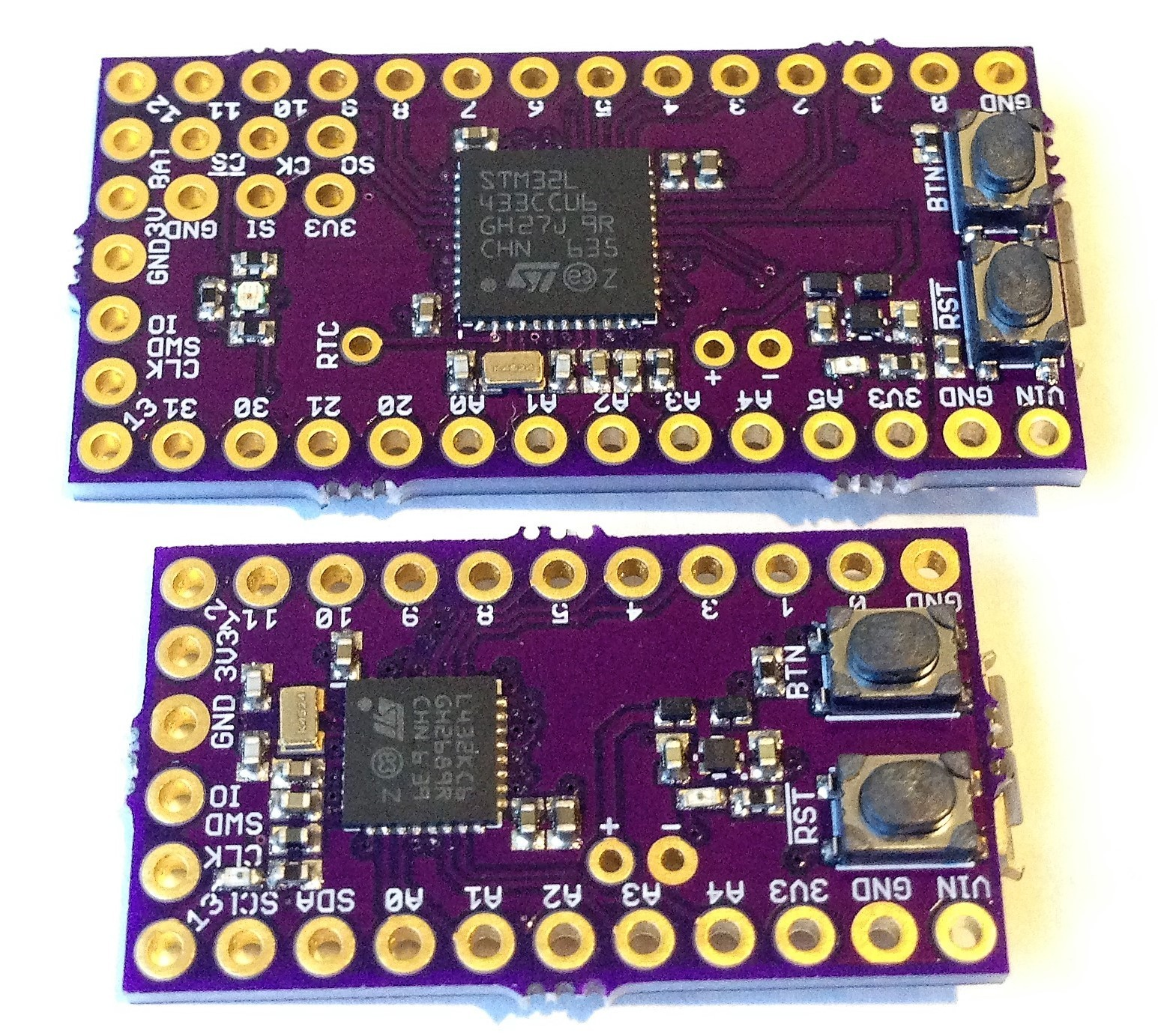Butterfly & Ladybug, STM32L4-Based Development Boards