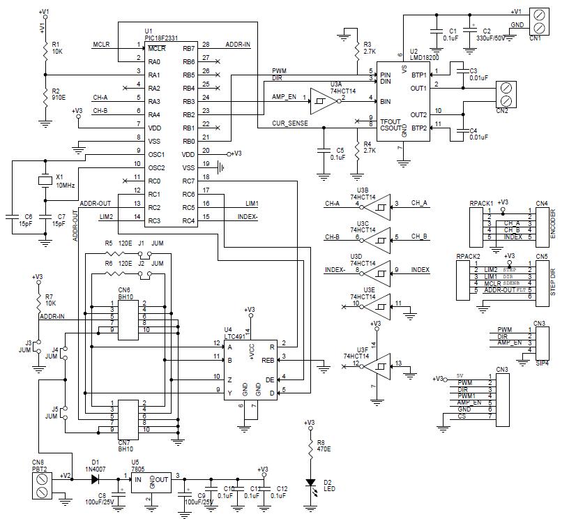 brush dc motor controller wiring diagram harmonic drive   brushed dc servo motor driver electronics lab  harmonic drive   brushed dc servo motor