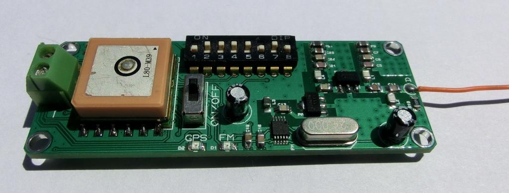 GPS RECEIVER TO FM RADIO (88-107 MHz) AUDIO + RDS TRACKING V2
