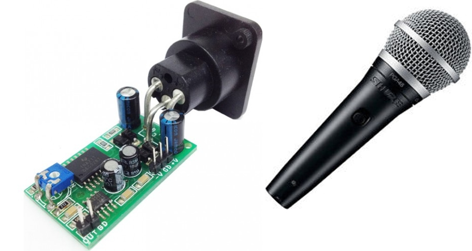 Tiny Professional Microphone Preamplifier