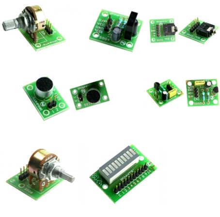 Various Modules Mic LM35 Dual Pot Single Pot EP Socket