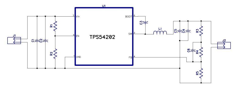 5V @ 2A Step Down Converter using TPS54202