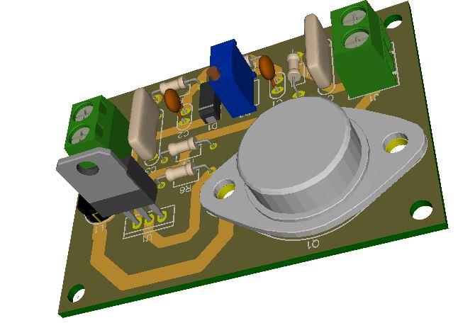1.2V-32V @3A Variable Switching Regulator using LM317