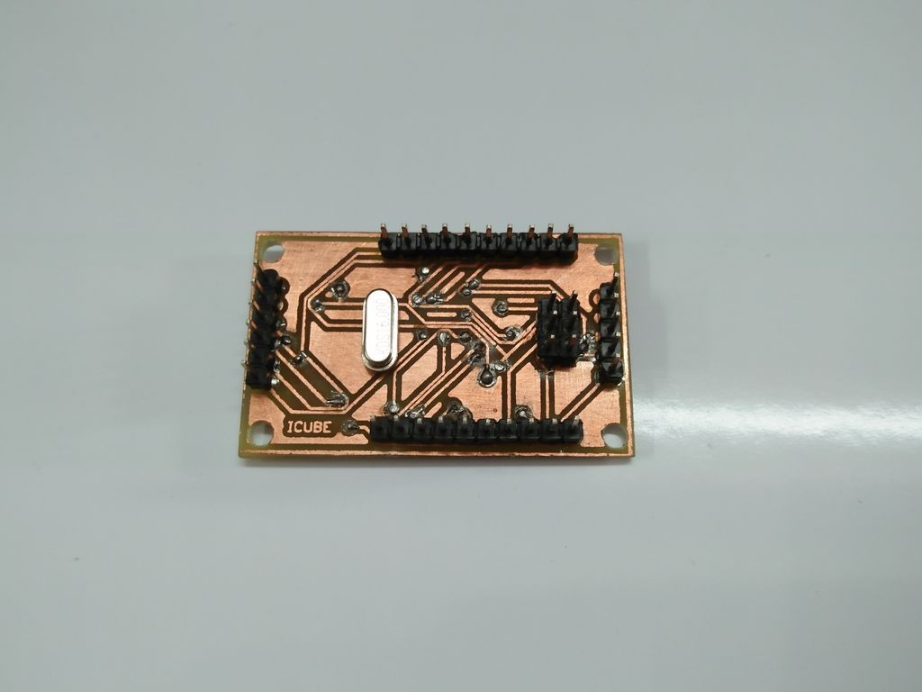 Lower layer of PCB