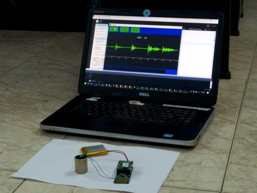 Measuring seismic activity using ProtoCentral OpenPressure
