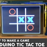 Tic Tac Toe Game with a touch screen and an Arduino Uno