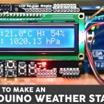 Weather Station with a BME280 sensor and an LCD screen with Arduino Mega