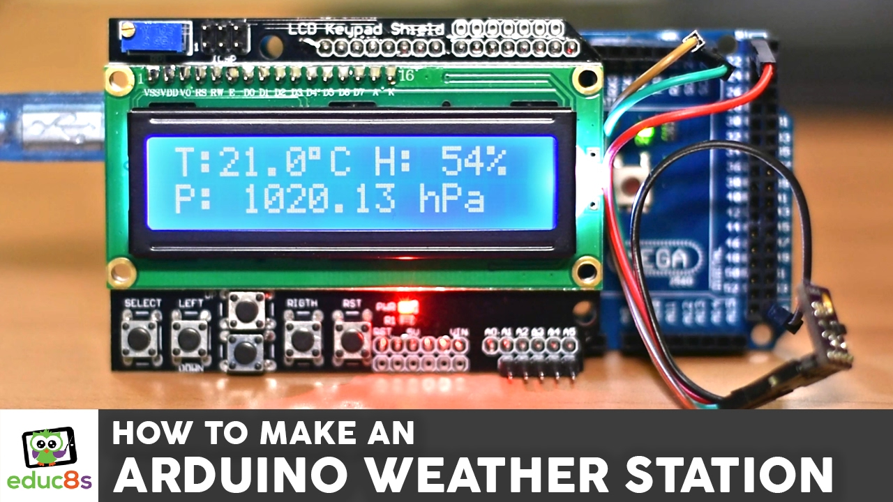Weather station with a bme sensor and an lcd screen