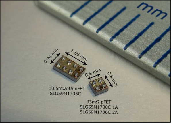 Wafer-scale-packaged integrated FET switches handle 1 – 4A