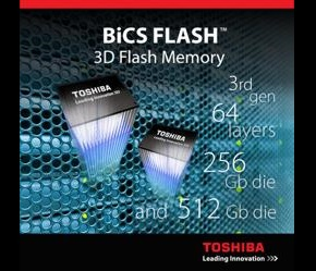 64-layer flash IC enables 1-Tbyte chips