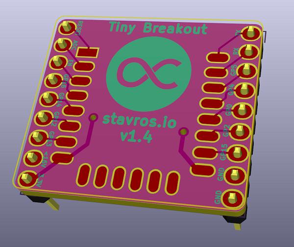 Tiny ESP8266 Breakout Board
