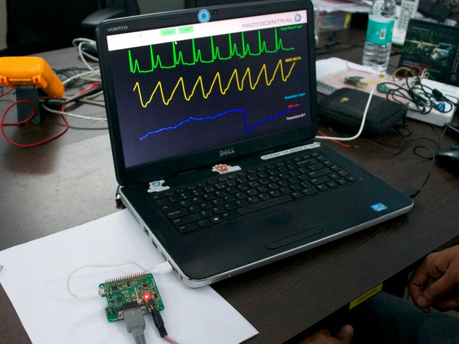 Using HealthyPi with a PC for ECG,Respiration & SpO2