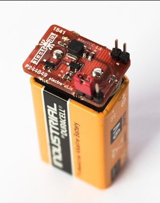 snapVCC – A snap-on regulated 3.3 V/5 V power supply