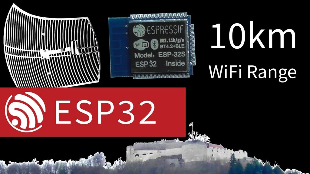 10km ESP32 WiFi Using Directional Antenna