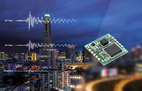 Smallest seismic sensor uses vibration spectral analysis