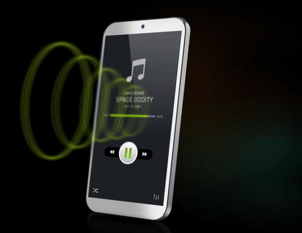 Screens become speakers, smartphones can lose micro-speakers