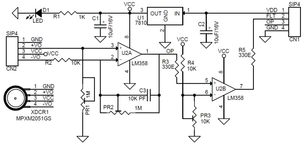 simple pressure sensor amplifier  u0026 over pressure switch