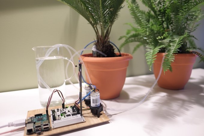 The Robot Core plant watering system