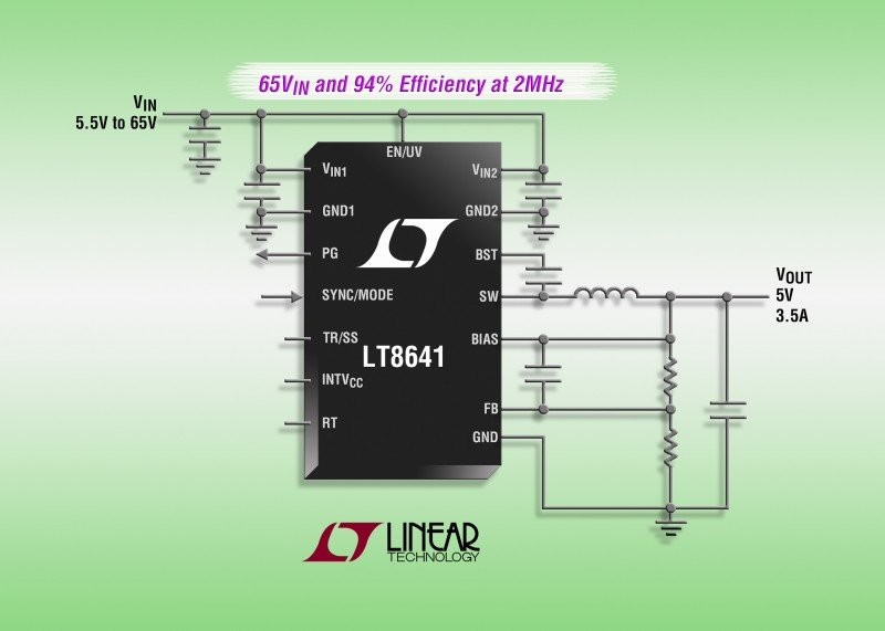 LT8641 – 65V, 3.5A Synchronous Step-Down Silent Switcher