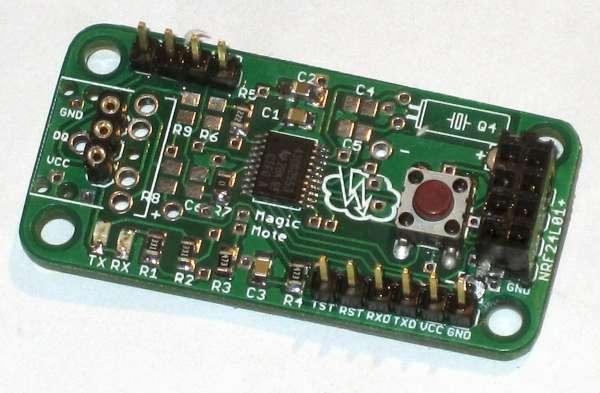 Magic Mote MSP430G2553 wireless sensor node with NRF24L01+ module