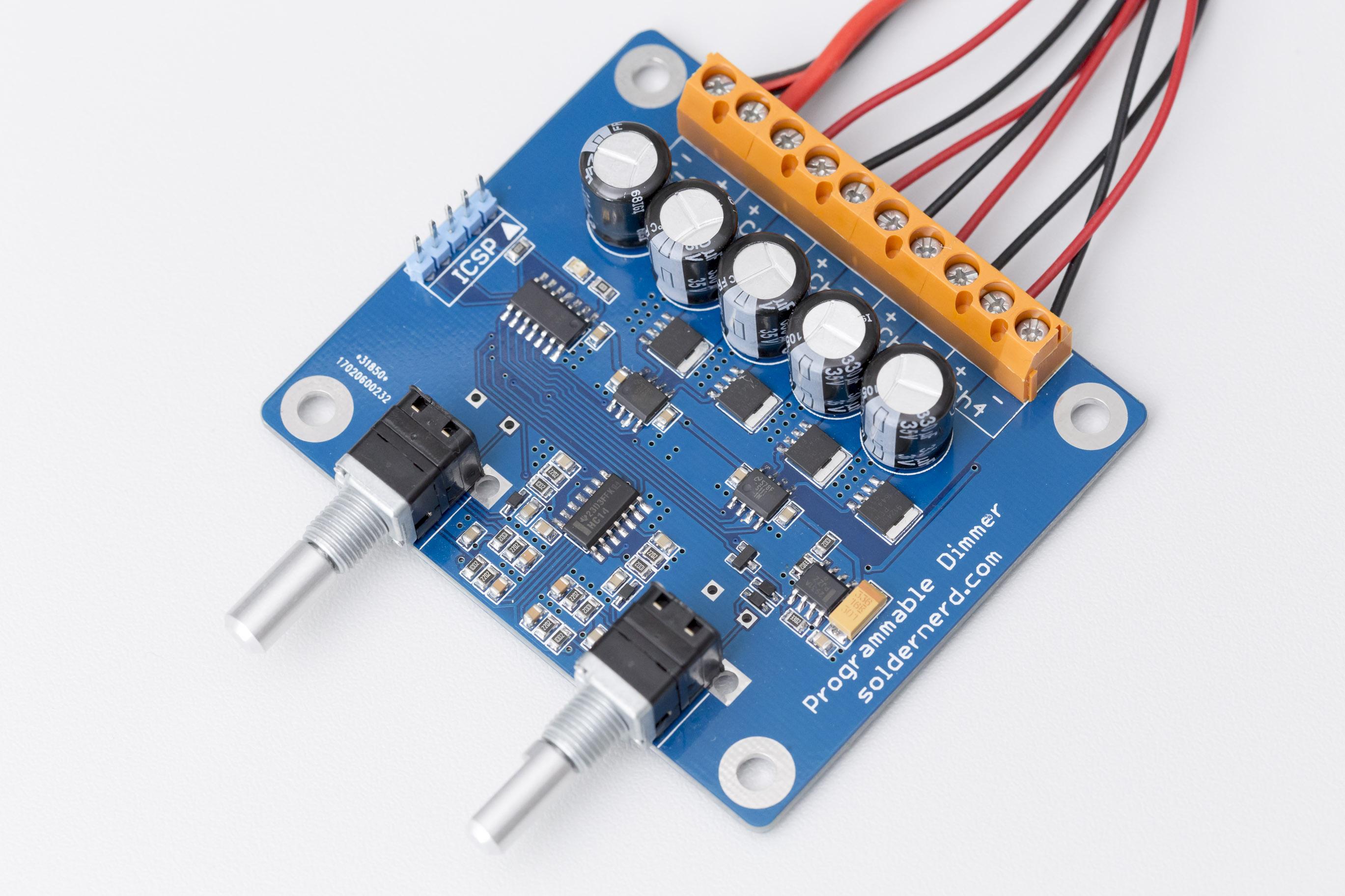 Programmable LED dimmer