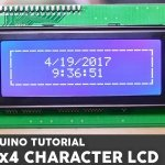 20×4 I2C Character LCD display with Arduino Uno
