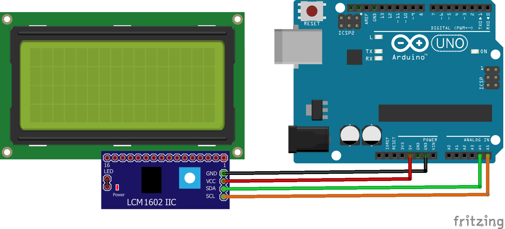 Real Time Clock On 20x4 I2c Lcd Display With Arduino Electronics Lab Realtime Calendar Ic And Electrical Engineering The Circuit