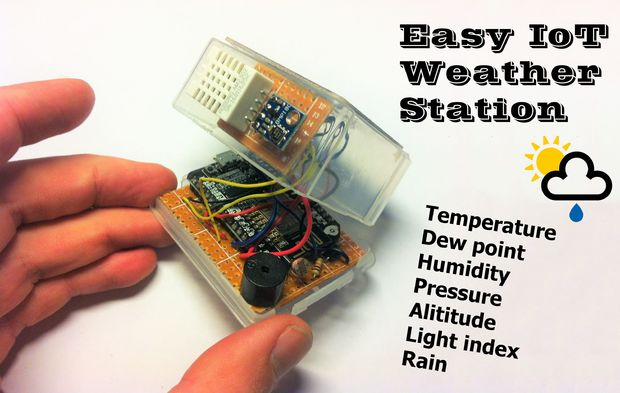 Easy IoT Weather Station With Multiple Sensors