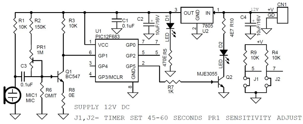 Sound Activated Led Light With Timer Electronics Lab