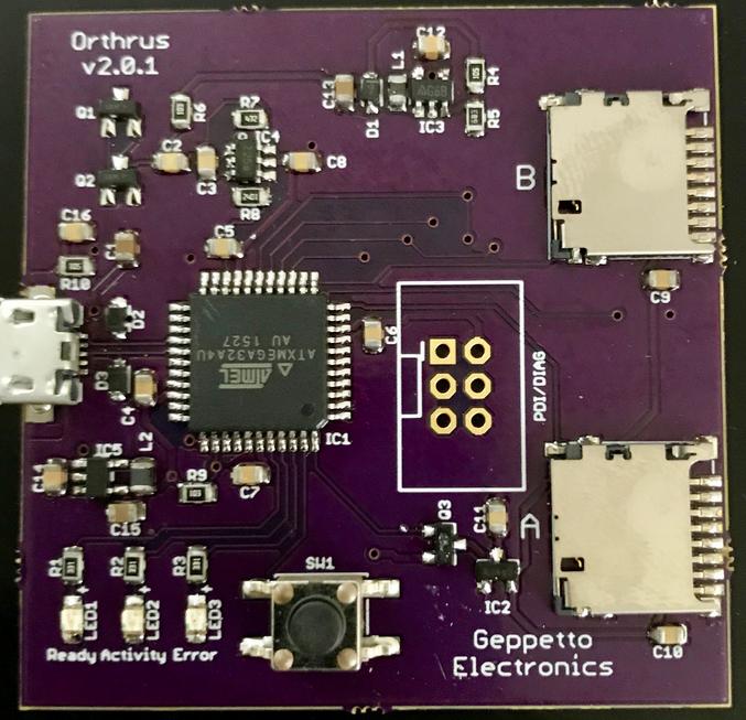 Orthrus – SD card secure RAID USB storage