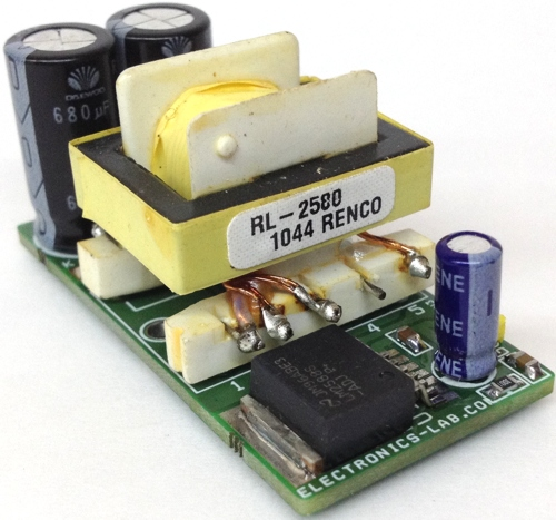 5V to Dual 12V Step Up DC-DC Converter Using LM2588-ADJ