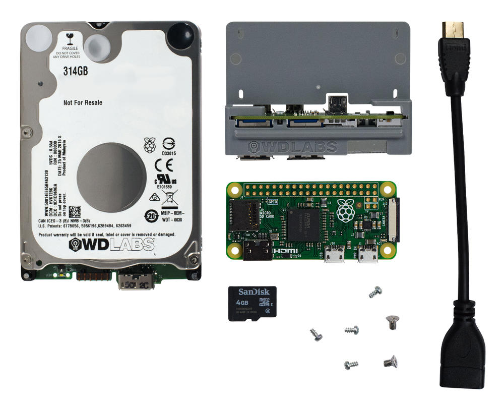 WD Pi Drive Node Zero Kit