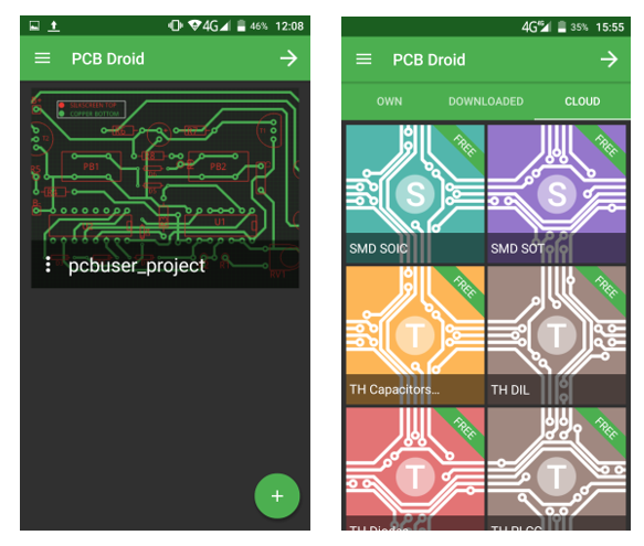 Pcb Droid First Mobile Pcb Designer App Electronics Lab