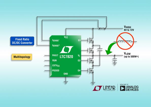 Linear applies switched-capacitor step-down topology for inductor-less DC/DC