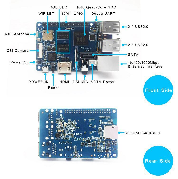 Banana Pi BPI-M2 Berry, A Quad Core Single-Board Computer