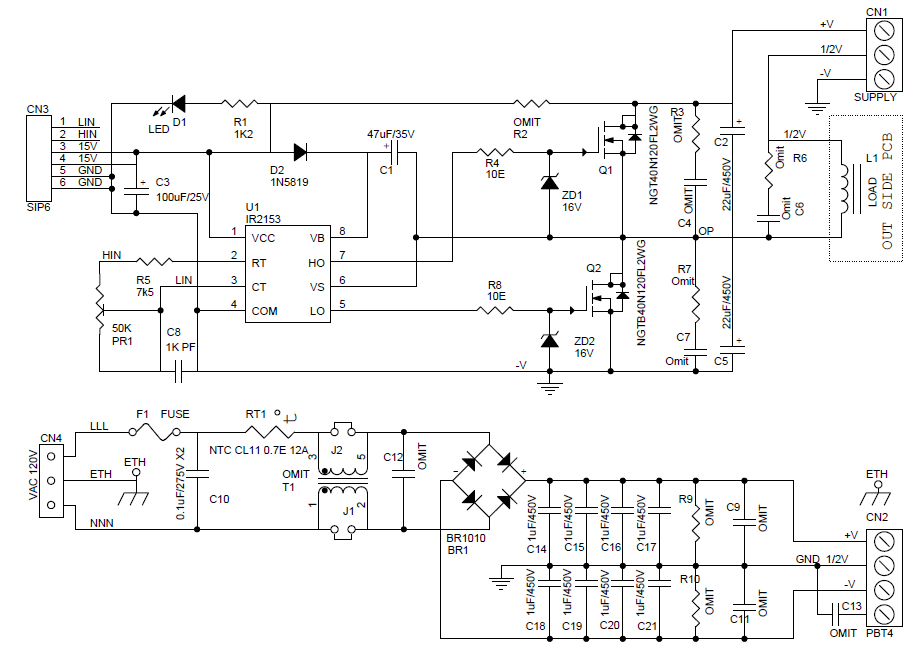 SCHEMATIC WITH POWER SUPPLY